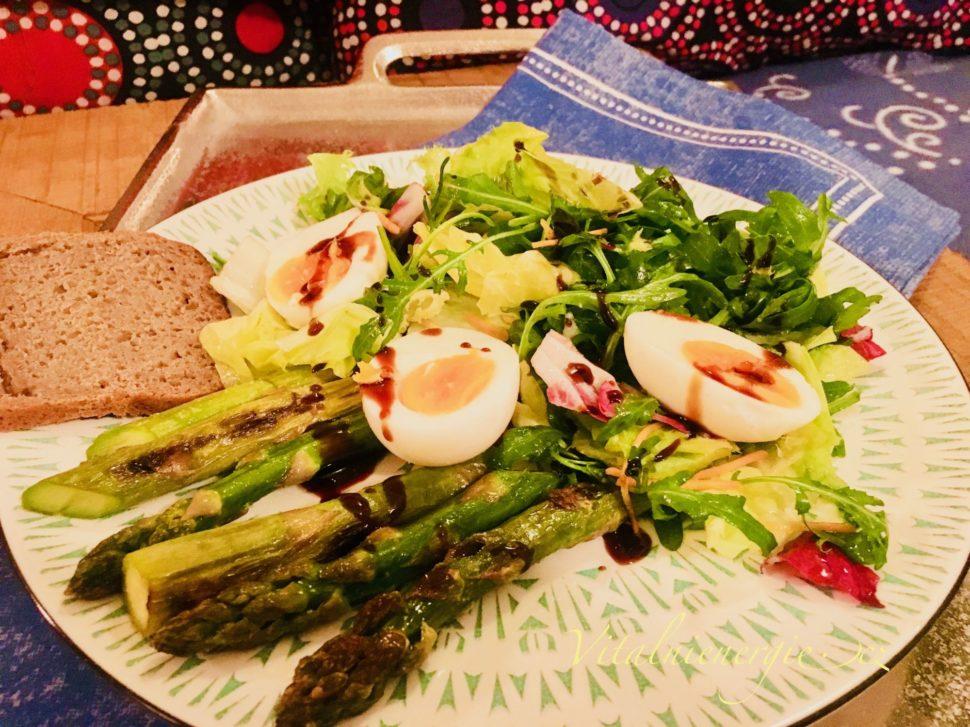 Jak zhubnout v menopauze - Chřestový salát s vejci