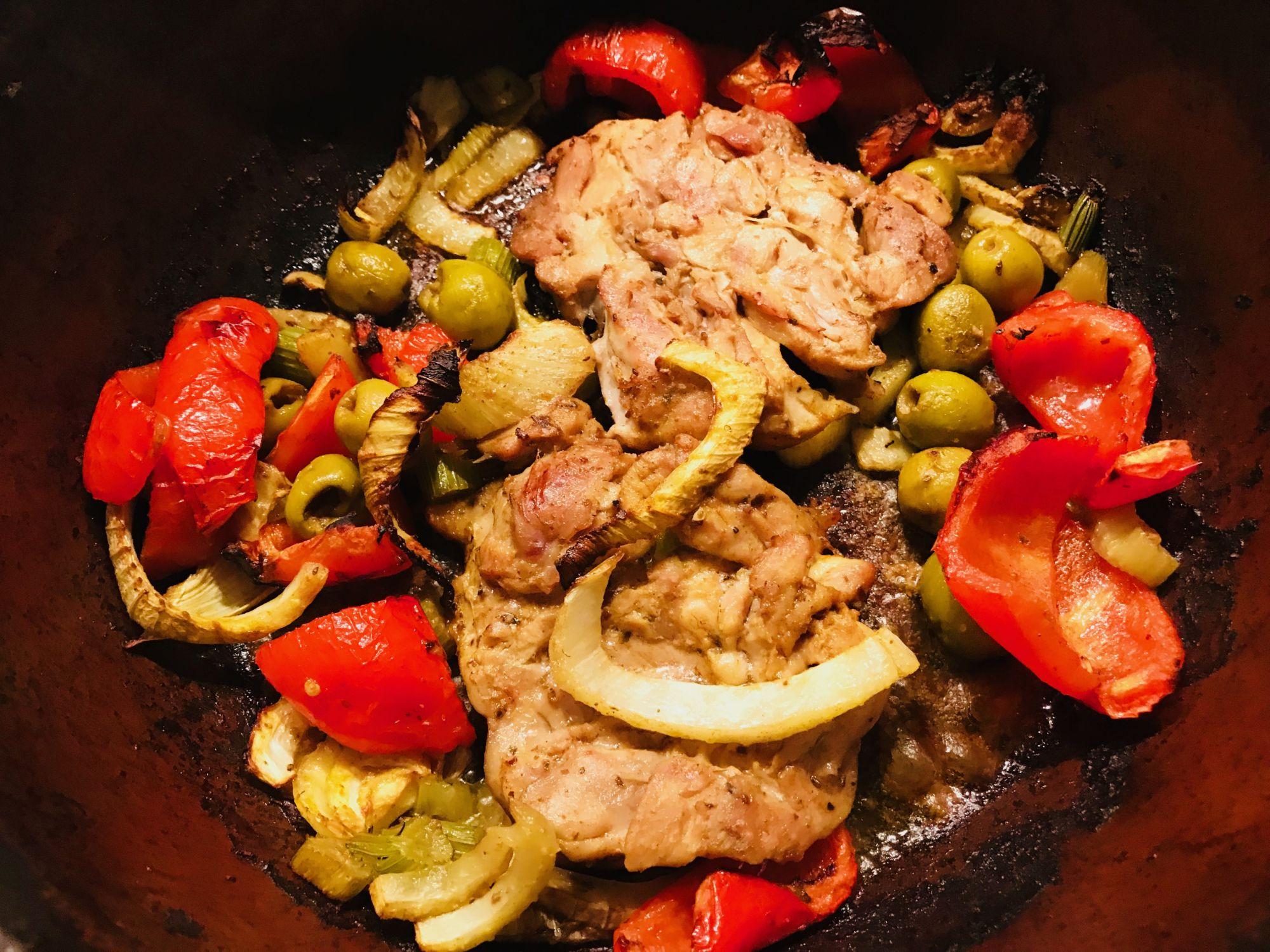 Kuře pečené se zeleninou - Jak zhubnout vmenopauze