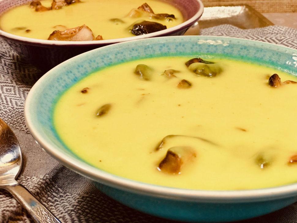 Celerová polévka s shittake - recepty pro hubnutí v menopauze
