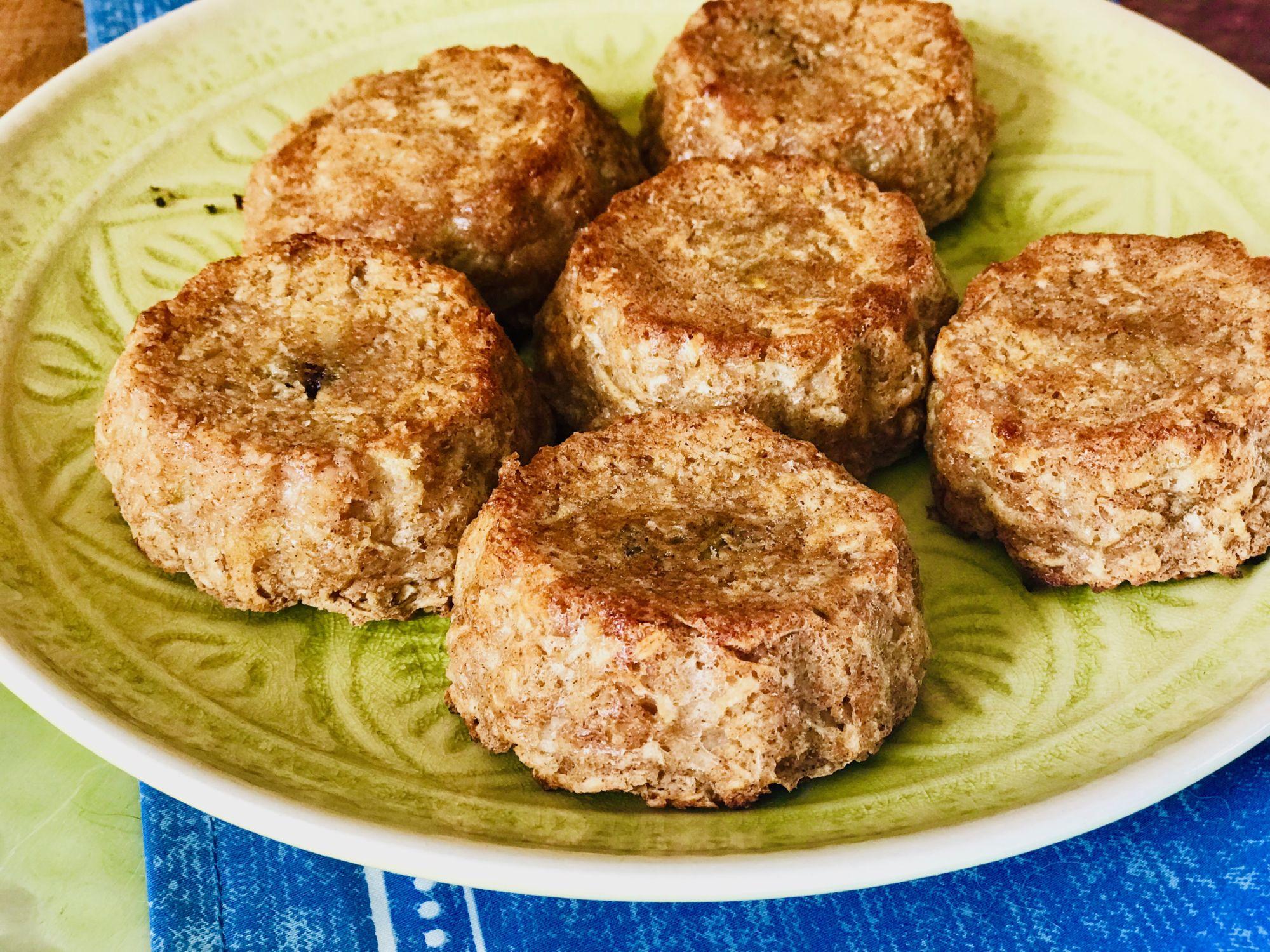 Muffiny ze sojového mléka, ovesných vloček ajablíčka