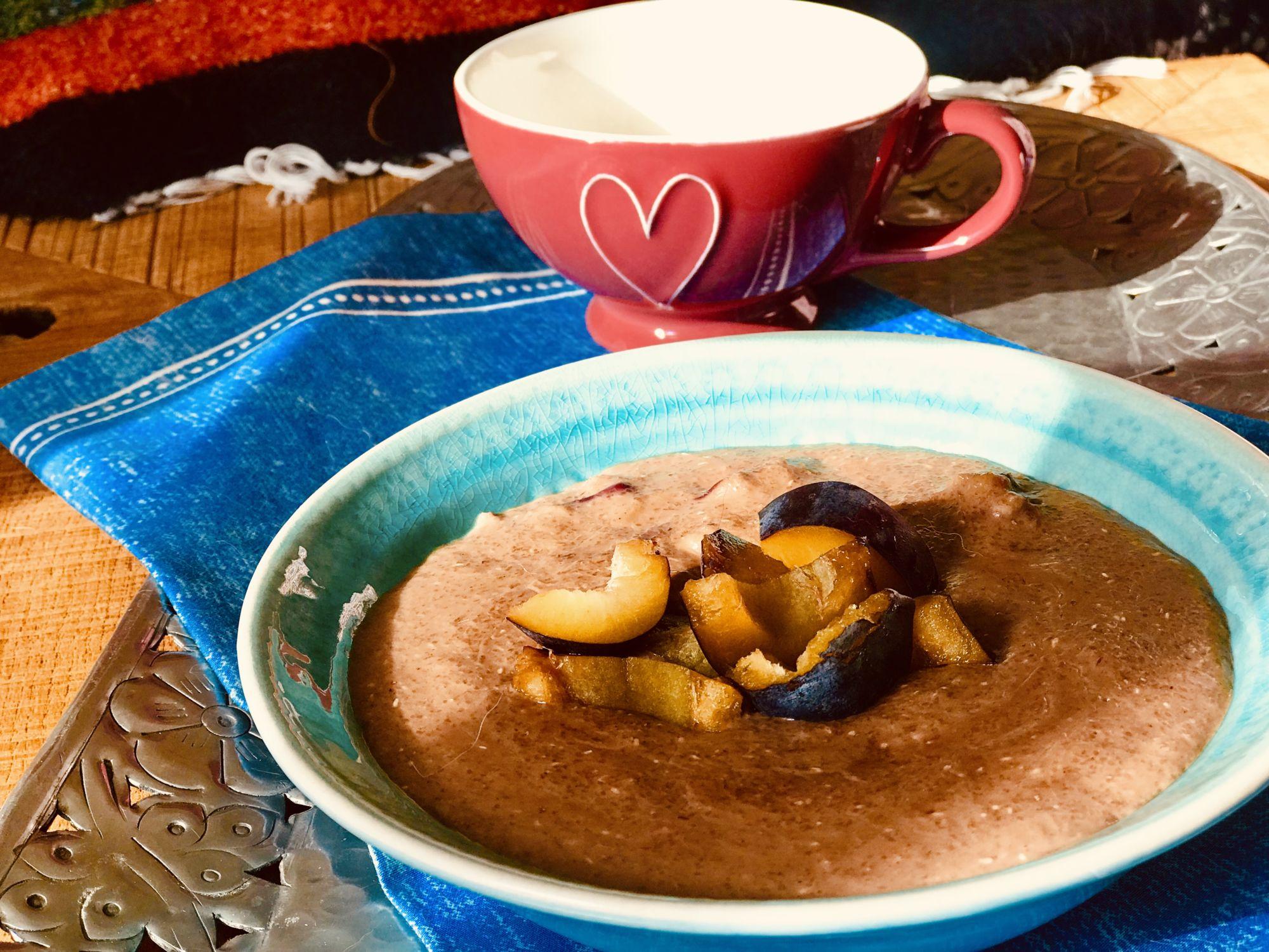 Čokoládová kaše zžitné krupice aovoce - jak zhubnout vmenopauze