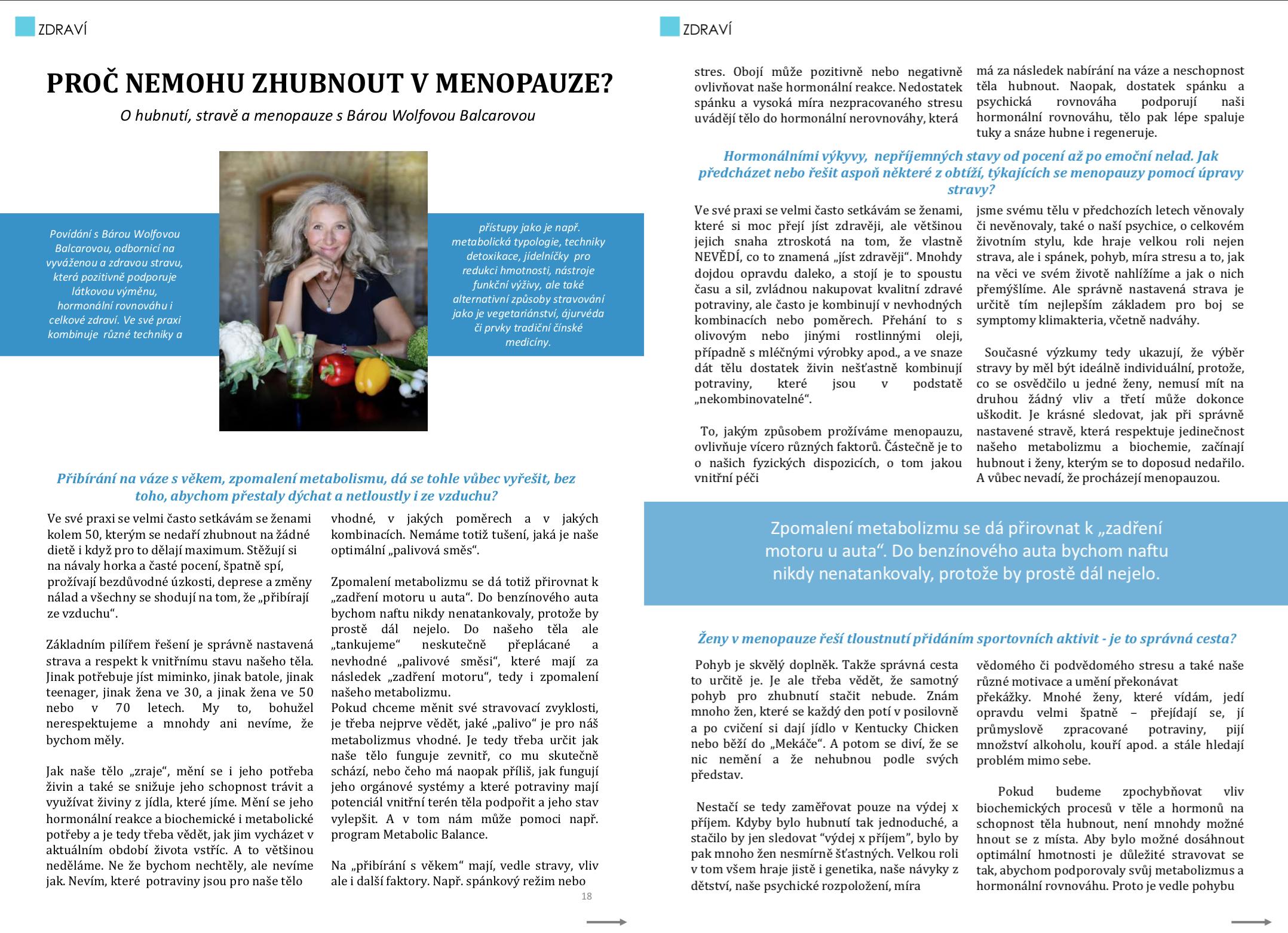 Jak zhubnout v menopauze - časopis ke stažení zdarma