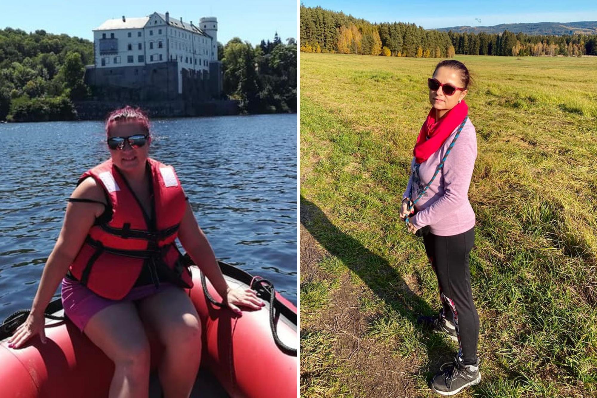 žena před a po dietě s Metabolic Balance